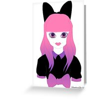 Doll Face Pink Greeting Card