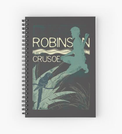 Books Collection: Robinson Crusoe Spiral Notebook