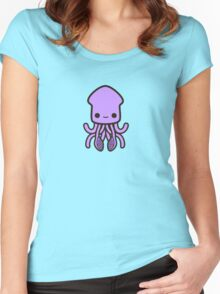 Cute purple squid Women's Fitted Scoop T-Shirt