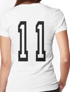 11, TEAM SPORTS, NUMBER 11, Eleven, Eleventh, Competition Womens Fitted T-Shirt