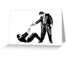 Two men with guns Greeting Card