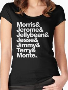 The Original 7ven Morris Day Jimmy Jam Merch Women's Fitted Scoop T-Shirt