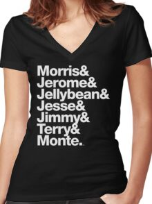 The Original 7ven Morris Day Jimmy Jam Merch Women's Fitted V-Neck T-Shirt