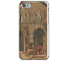 GUSTAV ADOLF HAHN, GUSTAV ADOLF HAHN, AKVARELL, SIGNERAD OCH DATERAD . iPhone Case/Skin