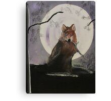 Playful Moon Canvas Print