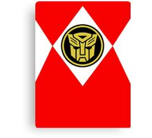 Mighty Morphin Autobot Rangers Canvas Print