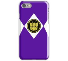 Mighty Morphin Decepticon Rangers iPhone Case/Skin