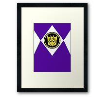 Mighty Morphin Decepticon Rangers Framed Print