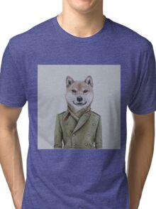 Shiba Inu guy Tri-blend T-Shirt