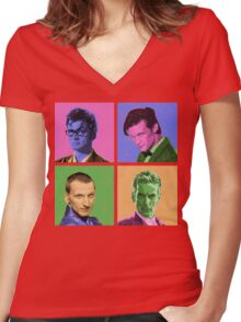 DR WARWHOL Women's Fitted V-Neck T-Shirt