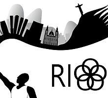 Rio de Janeiro skyline looks like torch flames by siloto