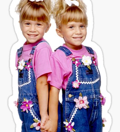 Mary Kate Ashley Olsen Full House Sticker