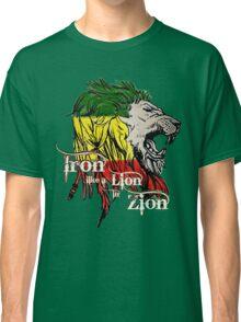 Reggae Rasta Iron, Lion, Zion 5 Classic T-Shirt