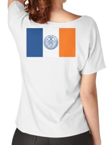 NEW YORK, American Flags, Flag of New York City, America, New York City Flag, Women's Relaxed Fit T-Shirt