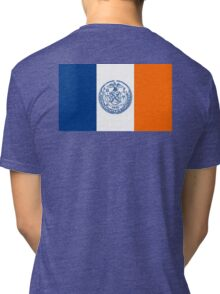NEW YORK, American Flags, Flag of New York City, America, New York City Flag, Tri-blend T-Shirt