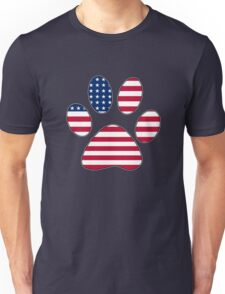 American flag paw print Unisex T-Shirt