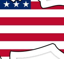 American flag horseback rider Sticker