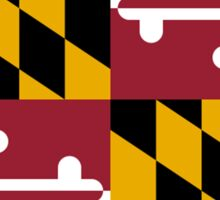 MARYLAND, America, Flag of Maryland, Maryland Flag, Pure & Simple, USA Sticker