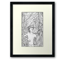 Simon in the Woods Framed Print