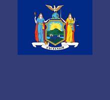 New York, American Flags, City, Flag, Flag of New York City, on Dark Blue Unisex T-Shirt
