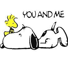 You and me snoopy woodstock Photographic Print