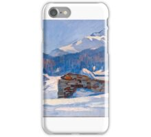 Hans Beat Wieland  winter sun in the Engadine,  iPhone Case/Skin