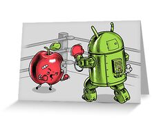 Apple vs Android Greeting Card