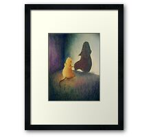 Worry Gives Small Things Big Shadows  Framed Print