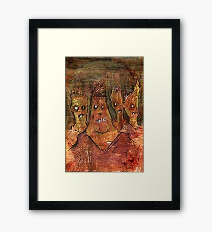 Zombies in a Red Dawn Apocalypse Framed Print