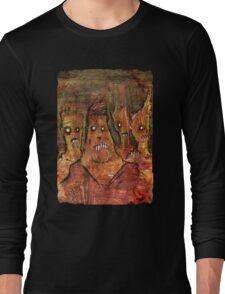 Zombies in a Red Dawn Apocalypse Long Sleeve T-Shirt