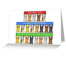 Speedy recovery from kidney stone surgery. Greeting Card