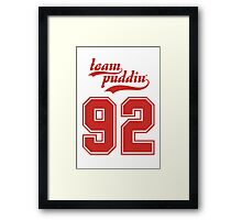 Team Puddin'! (RED) Framed Print