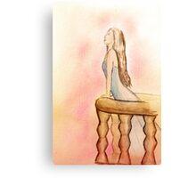 On a balcony Canvas Print