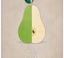 Pear (taupe) - Natural History Fruits by RedHillPrints
