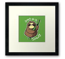 Slow sloth Framed Print