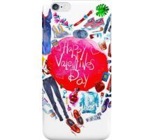 fashion illustration. heart of clothes. painted in watercolor iPhone Case/Skin
