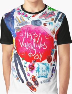 fashion illustration. heart of clothes. painted in watercolor Graphic T-Shirt