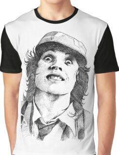 Thunderstruck Portrait Graphic T-Shirt