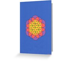 1110 - Flower of Life in Blue Greeting Card