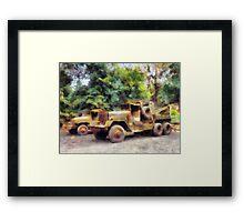 Two Army Trucks Framed Print