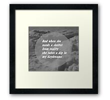 a shelter from reality Framed Print