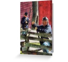 Union Soldier Loading Rifle Greeting Card