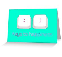 Keys to Happiness Pun Greeting Card
