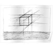 Sketch of a Cube Poster