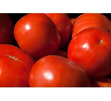 Ripe red tomatoes background Photographic Print