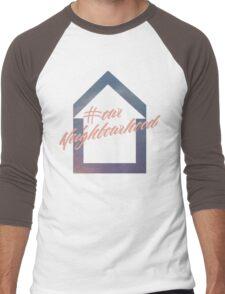 #ourNeighbourhood w/ House Logo for #troyetee Contest Men's Baseball ¾ T-Shirt