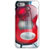 Red headlight of the silver car iPhone Case/Skin