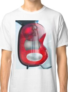 Red headlight of the silver car Classic T-Shirt