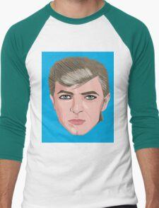 David Bowie Portrait Men's Baseball ¾ T-Shirt