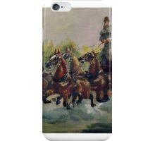 Henri de Toulouse-Lautrec, , ALPHONSE DE TOULOUSE-LAUTREC-MONFA ( DRIVING HIS MAIL-COACH IN NICE iPhone Case/Skin